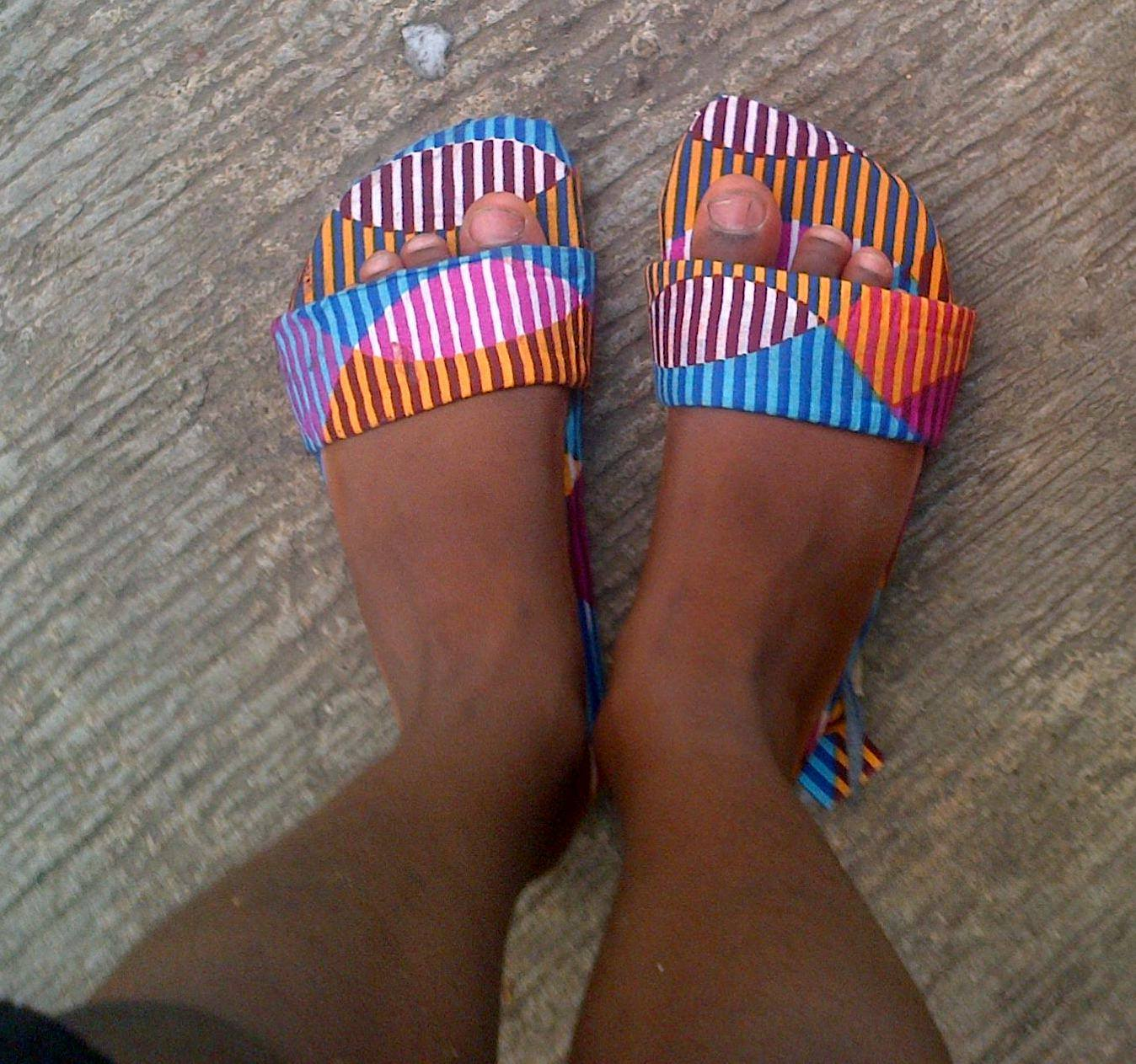 Making Custom Ankara Footwear by Restoring Old, Discarded Ones – TemiAndOluoma.com